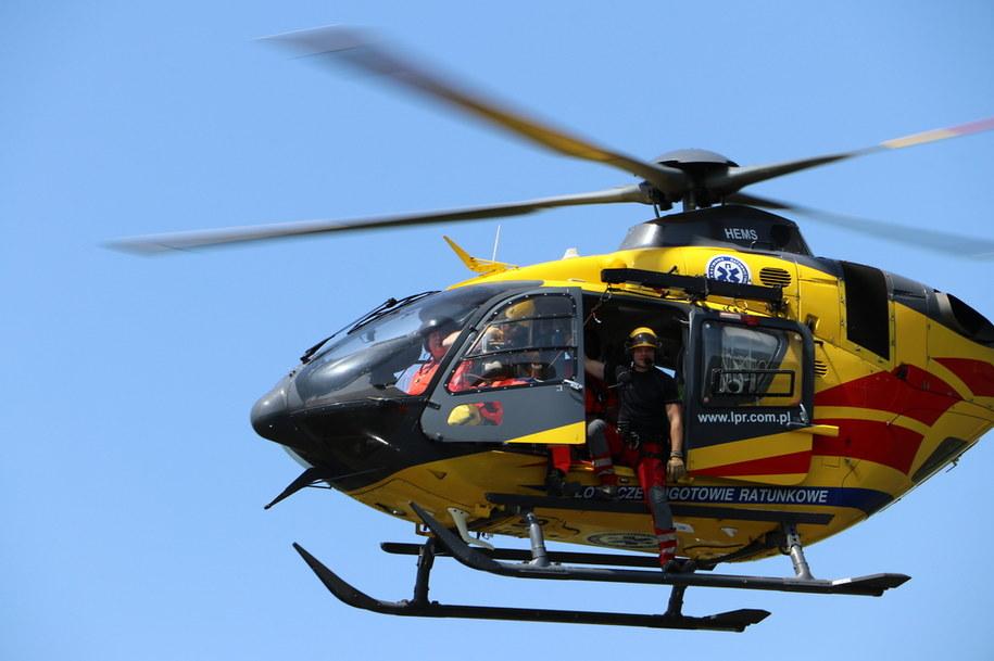 Na miejscu wypadku lądował śmigłowiec LPR /Jacek Skóra /RMF FM