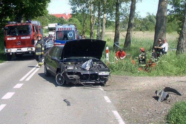 Na miejscu wypadku /PAP