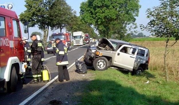 Na miejscu zginęła pasażerka hummera /Policja