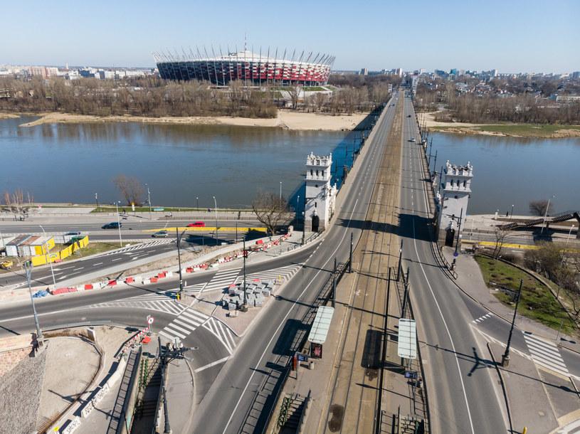 Na moście Poniatowskiego pojawi się sześć fotoradarów /Łukasz Szczepański  /Reporter
