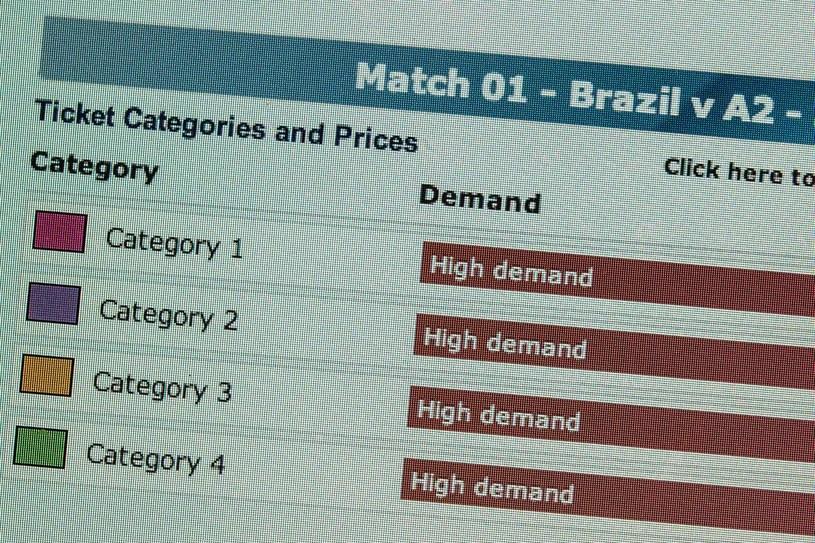 Na MŚ w Brazylii sprzedano już ponad 2,5 miliona biletów /AFP