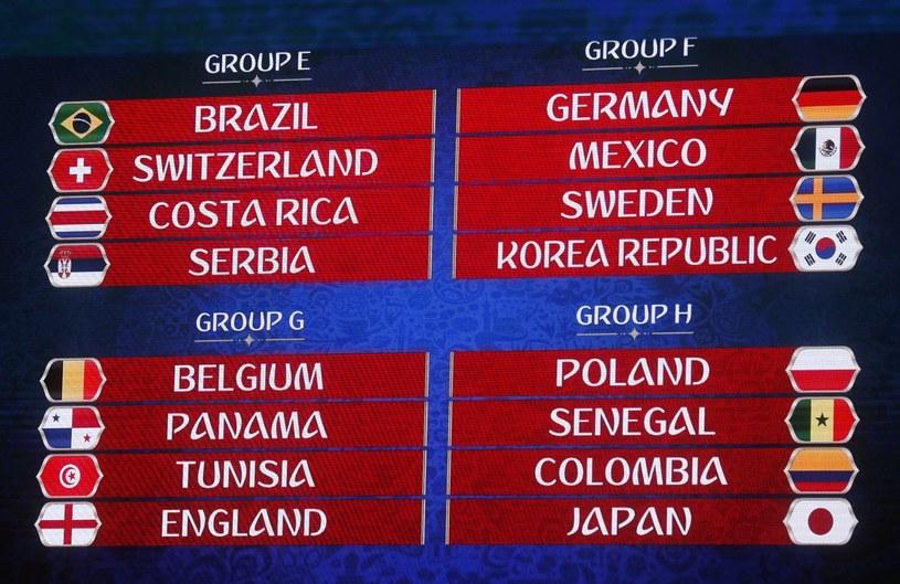 Na mundialu w Rosji Polska zagra w grupie H /PAP/EPA