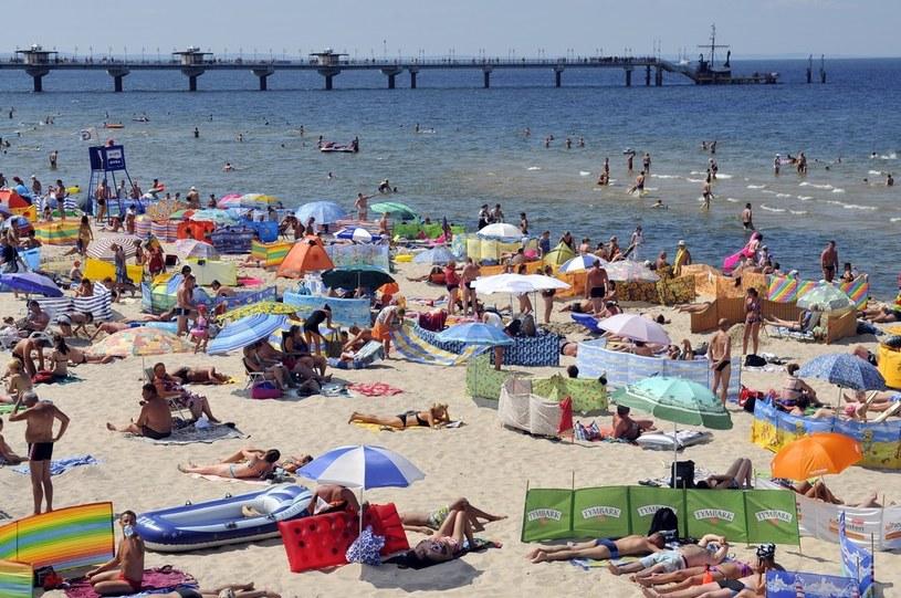 Na nadbałtyckiej plaży... /Piotr Kamionka /East News