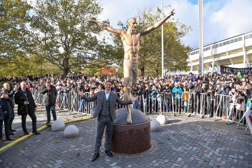 Na odsłonięciu pomnika w Malmoe stawił się sam Zlatan Ibrahimović /AFP