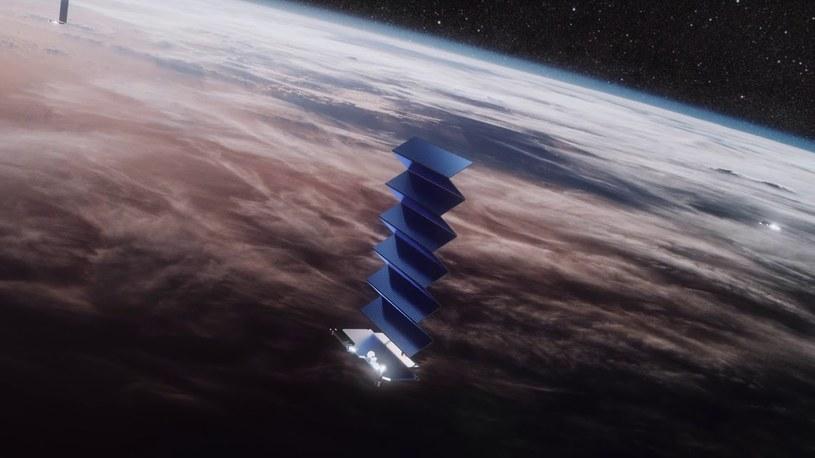 Na orbicie znajdą się tysiące satelitów Starlink /materiały prasowe