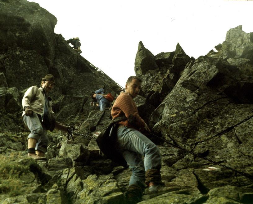 Na Orlą Perć powinny wybierać się wyłącznie osoby doświadczone w górskich wędrówkach i posiadające odpowiedni sprzęt /Marek Radzikowski / Forum /Agencja FORUM