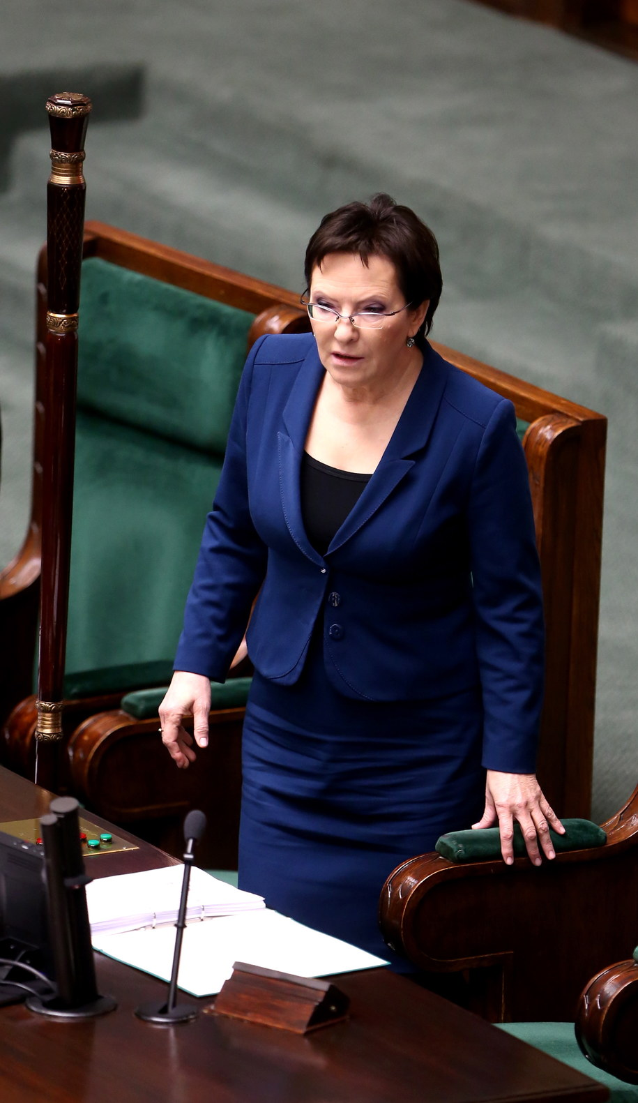 Na pełnienie funkcji premiera politycy PO najczęściej wskazują Ewę Kopacz /Tomasz Gzell /PAP