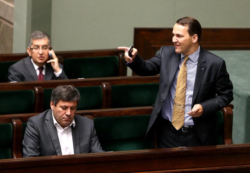 Na pierwszym planie Janusz Piechociński (z lewej) i Radosław Sikorski (z prawej) /Tomasz Gzell /PAP