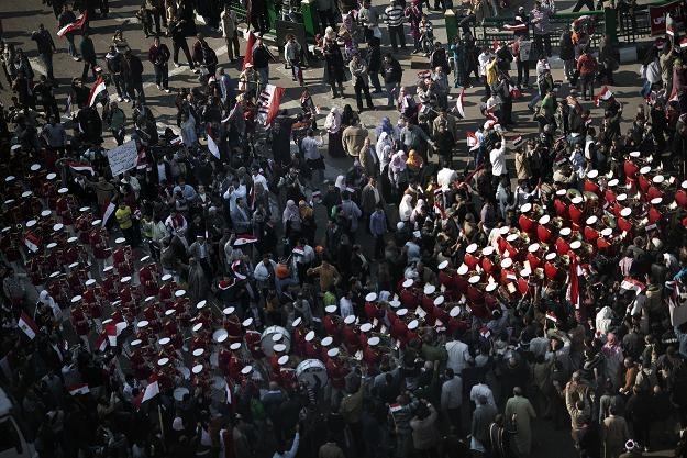 """Na placu Tahrir Egipcjanie zbierają się przed """"marszem zwycięstwa"""" /AFP"""