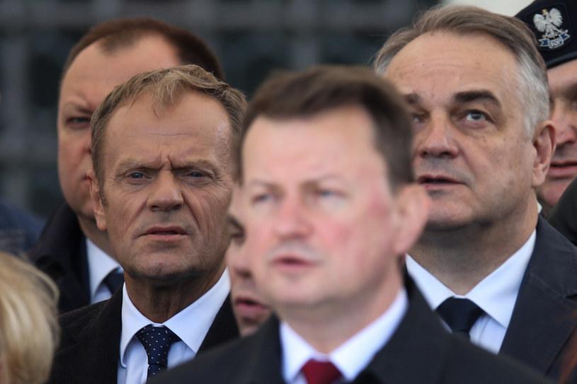 Na Placu Zamkowym obecny był także Donald Tusk /Andrzej Hulimka  /Agencja FORUM