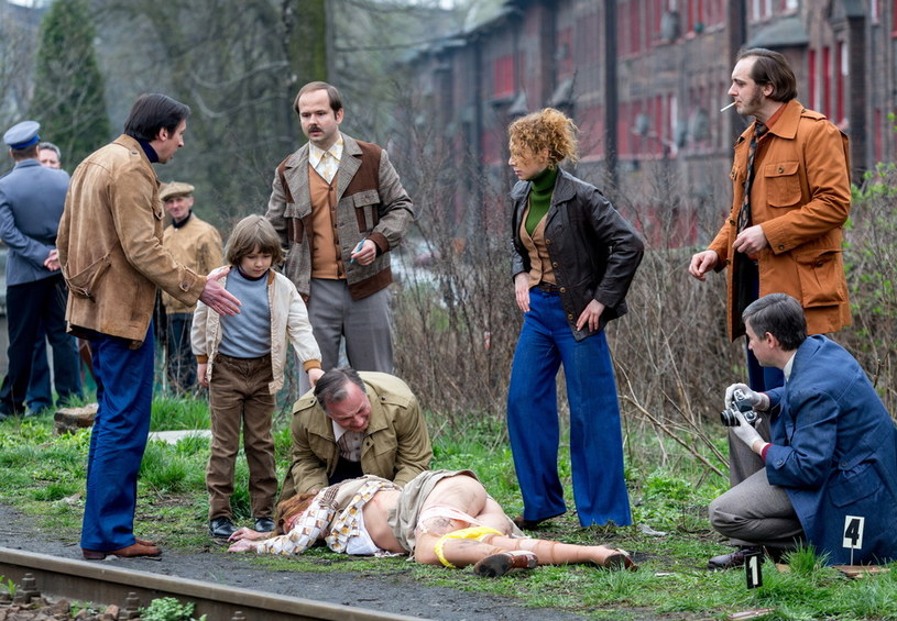 """Na planie filmu """"Jestem mordercą"""" /Andrzej Grygiel /PAP"""