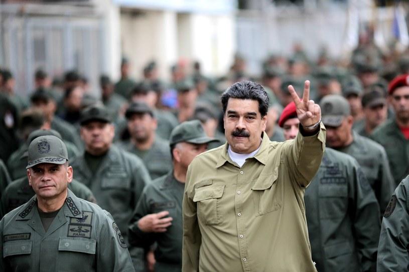 Na początku stycznia Nicolas Maduro został zaprzysiężony na drugą kadencję po wygraniu wyborów prezydenckich w 2018 r. Nie spełniały one jednak standardów demokratycznych /Miraflores Palace/REUTERS  /Agencja FORUM
