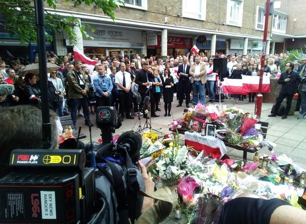 Na początku września ulicami Harlow przeszedł marsz milczenia /Bogdan Frymorgen /Archiwum RMF FM