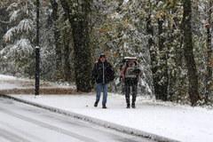 Na Podhalu spadł śnieg