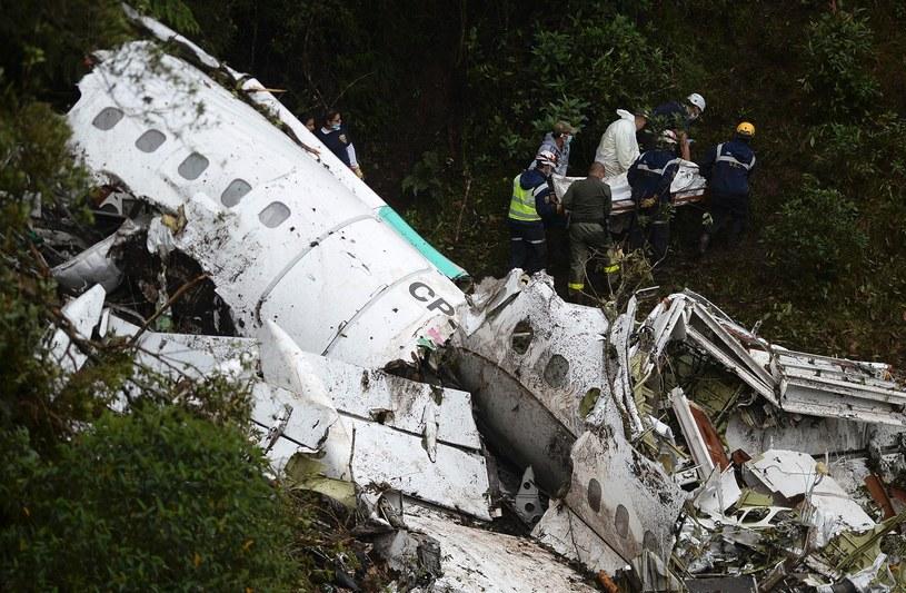 Na pokładzie samolotu było 81 osób, w tym 22 zawodników Chapecoense /AFP