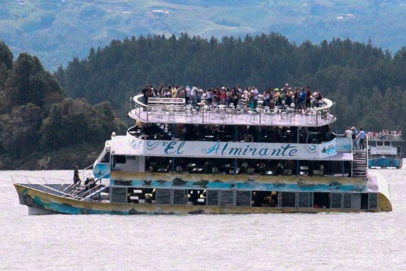Na pokładzie statku byli turyści /Juan QUIROZ /AFP