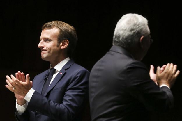 Na Półwyspie Iberyjskim Macron promował swoją wizję Europy / JOSE SENA GOULAO /PAP/EPA