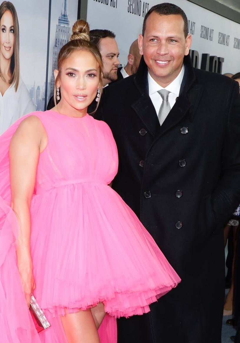 Na premierze gwieździe towarzyszył jej ukochany, Alex Rodriguez /East News