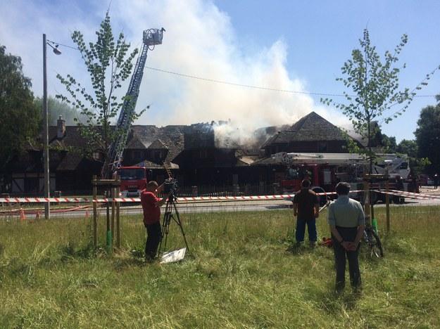 Na razie nie wiadomo, co było przyczyną pożaru /Adam Górczewski /RMF FM