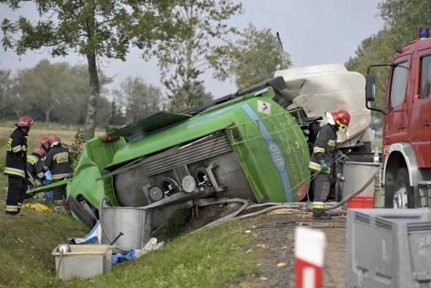 Na razie nie wiadomo jak doszło do wypadku /PAP