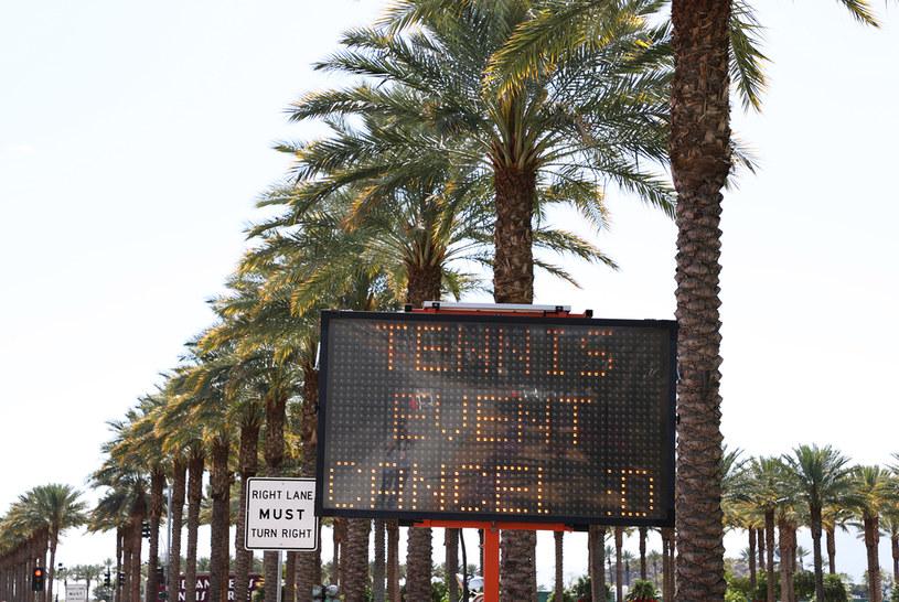 Na razie turnieje tenisowe są odwoływane /Al Bello /Getty Images