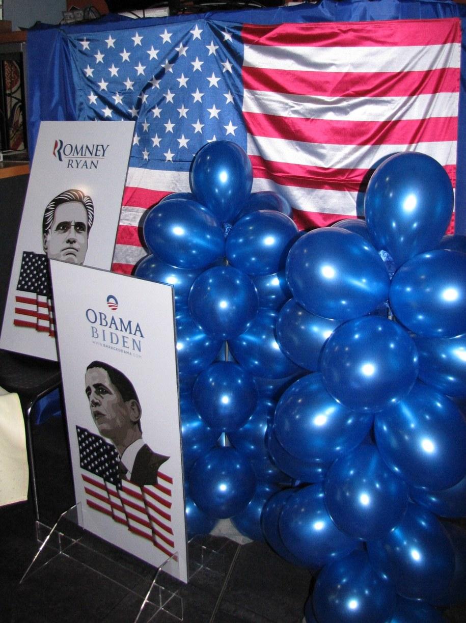 Na scenie dyskutują ze sobą zwolennicy Romneya i Obamy /Maciej Grzyb /RMF FM