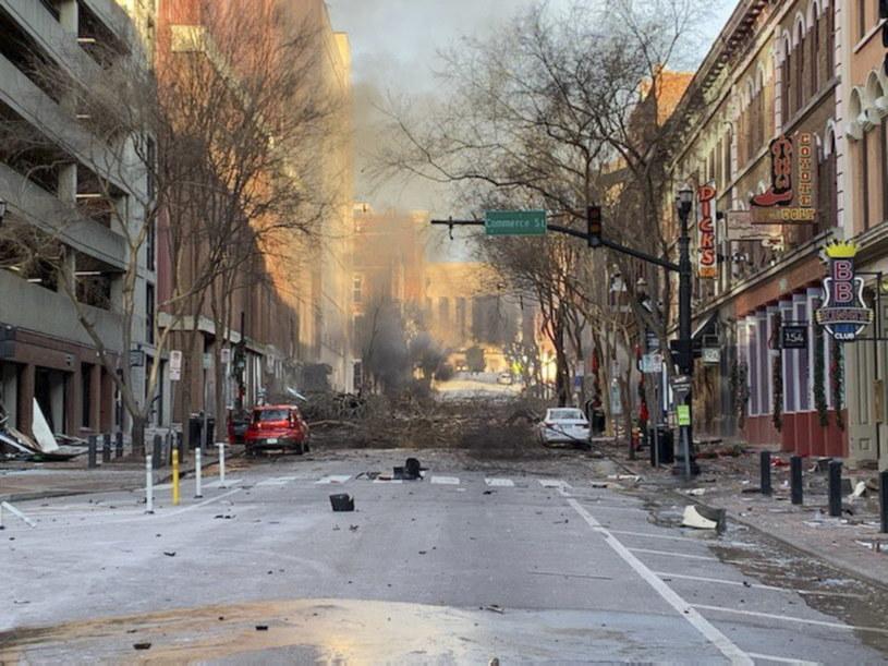 Na skutek eksplozji lekko ranne zostały trzy osoby /NASHVILLE POLICE DEPARTMENT /PAP/EPA