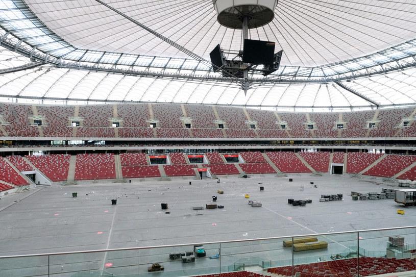 Na Stadionie Narodowym powstaje szpital polowy - dowiedział się Polsat News /Mateusz Grochocki /East News