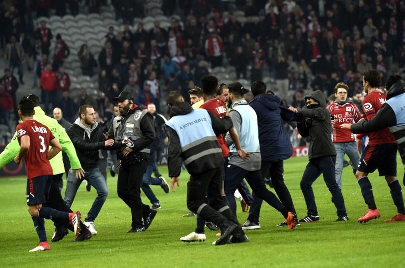 Na stadionie w Lille kibice zaatakowali piłkarzy po meczu francuskiej Ligue1 /AFP