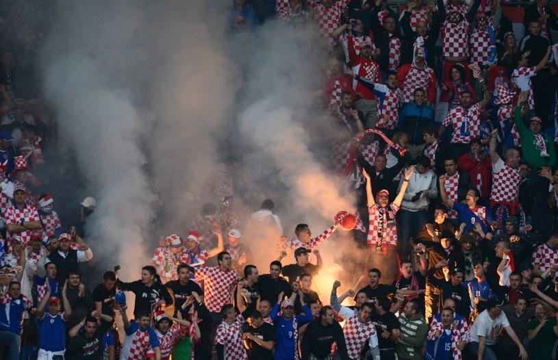 Na stadionie w Zagrzebiu będzie gorąco, bo Chorwacja zmierzy się z Serbią /AFP