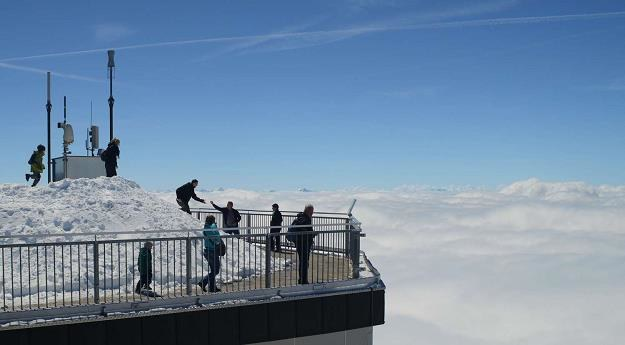 Na szczycie Zugspitze /AFP