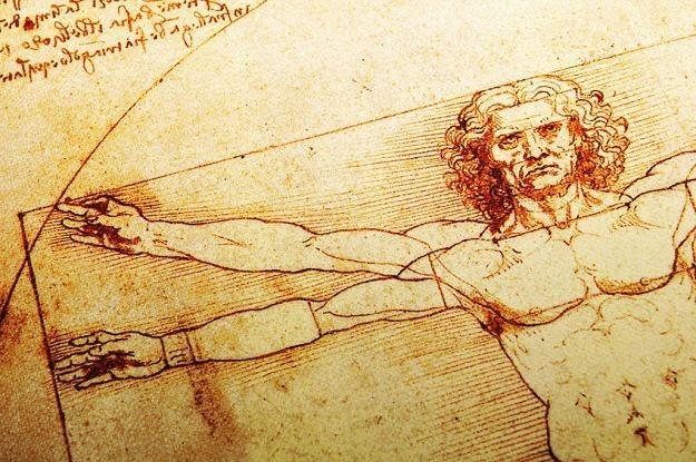 Na szkicu Leonarda da Vinci człowiek ma idealne proporcje. My także szukamy podobnej doskonałości /©123RF/PICSEL