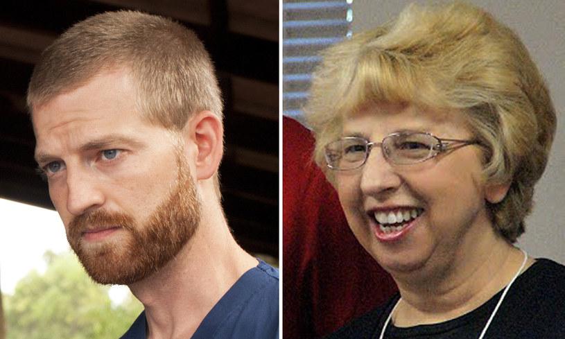 Na tych lekarzy - Kenta Brantly'ego i Nancy Writebol - lek na wirusa Ebola działa /AFP