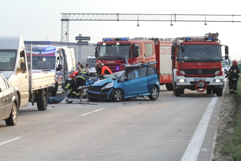 Na tym odcinku A4 niemal każde zdarzenie kończy się zablokowaniem autostrady /Jarosław Jakubczak /East News