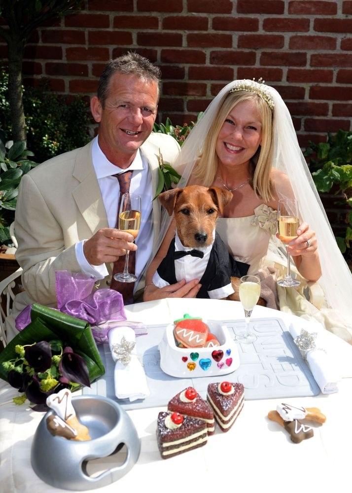 Na tym ślubie najważniejszy był pies /Barry Gomer  Rex Features /East News