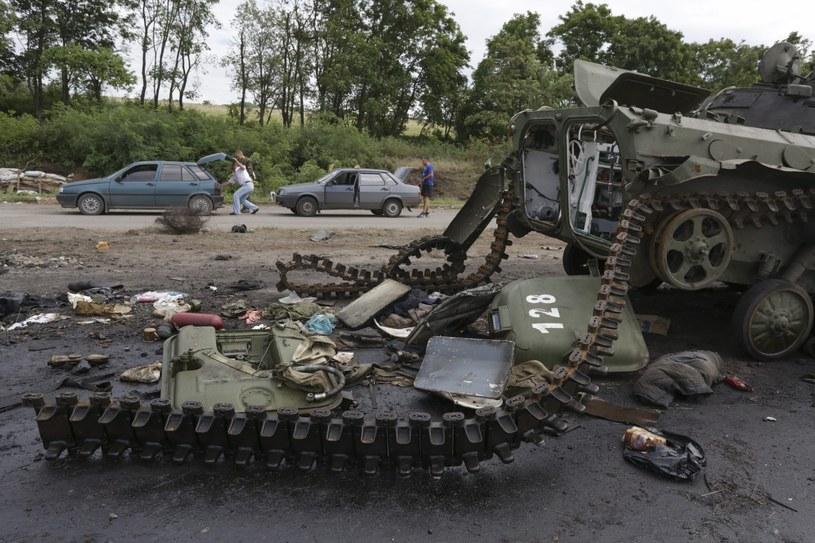 Na Ukrainie toczą się walki /PAP/EPA