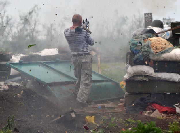 Na Ukrainie trwa regularna wojna fot. Genya Savilov /AFP