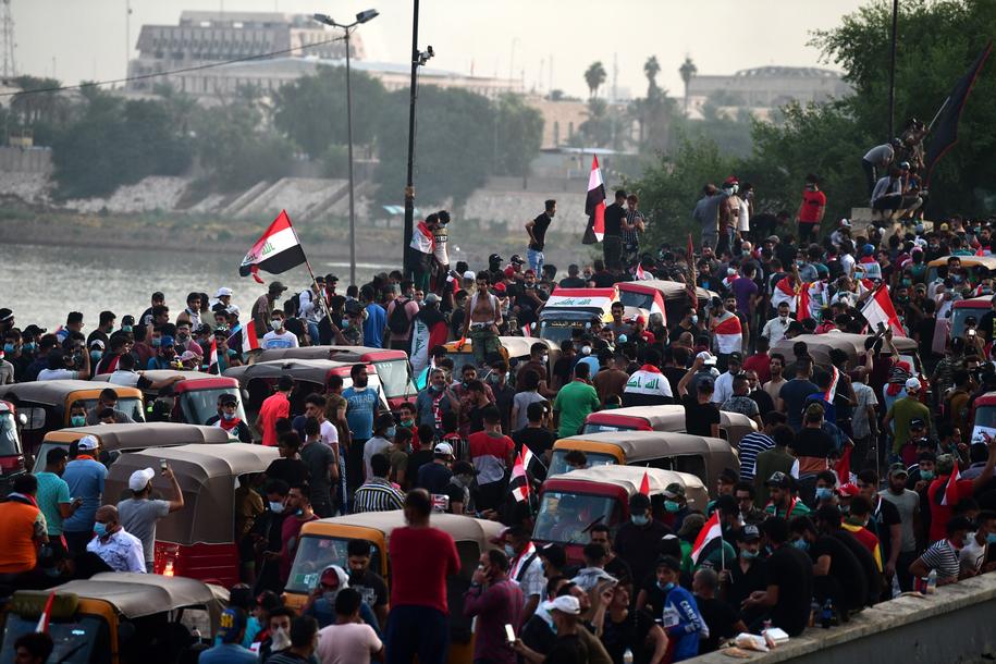 Na ulicach zgromadziły się tysiące ludzi /MURTAJA LATEEF /PAP/EPA