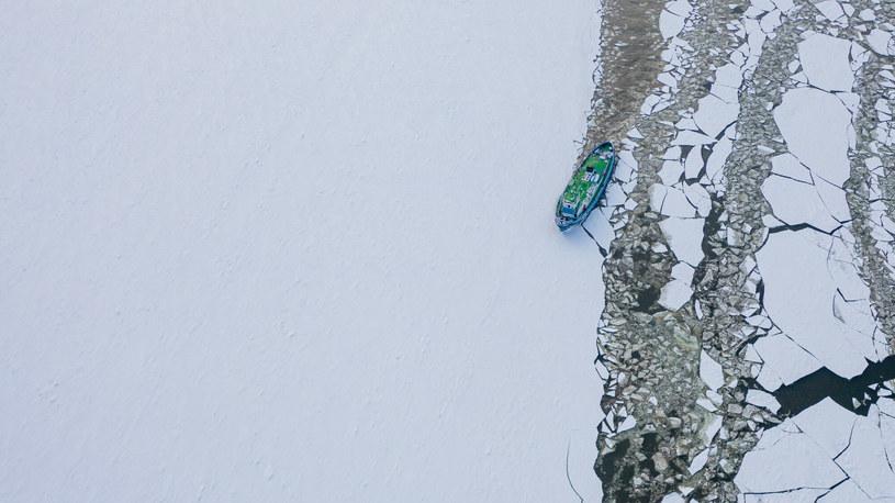 Na Wiśle konieczne było użycie lodołamaczy /Kamil Kiedrowski /Reporter