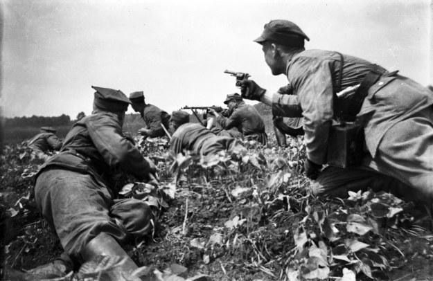 Na zajętych przez Armię Czerwoną w 1944 r. terenach Polski, mobilizacja szła bardzo opornie /FoKa /Agencja FORUM