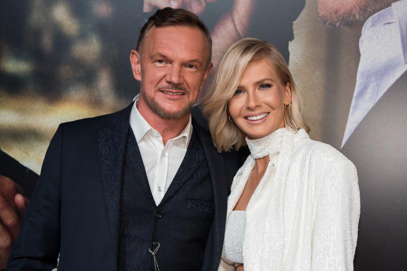 Na zdj. Cezary Pazura z żoną Edytą /Justyna Rojek /East News