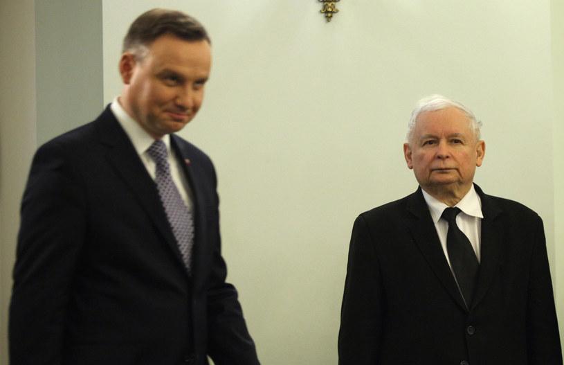 Na zdj. Jarosław Kaczyński i prezydent Andrzej Duda /Stefan Maszewski /Reporter
