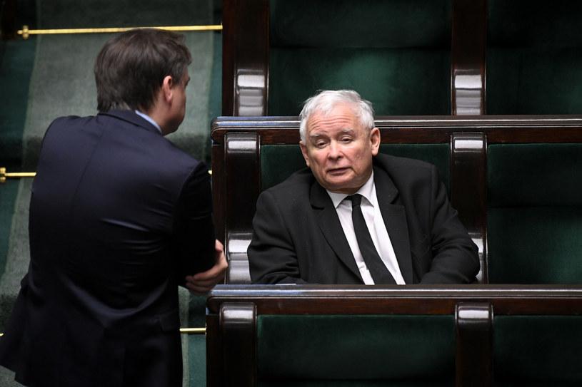 Na zdj. Jarosław Kaczyński i Zbigniew Ziobro w Sejmie /Jacek Dominski/REPORTER /Reporter