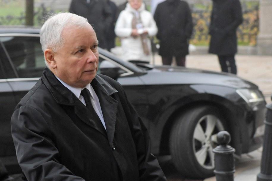 Na zdj. Jarosław Kaczyński /Radek Pietruszka /PAP