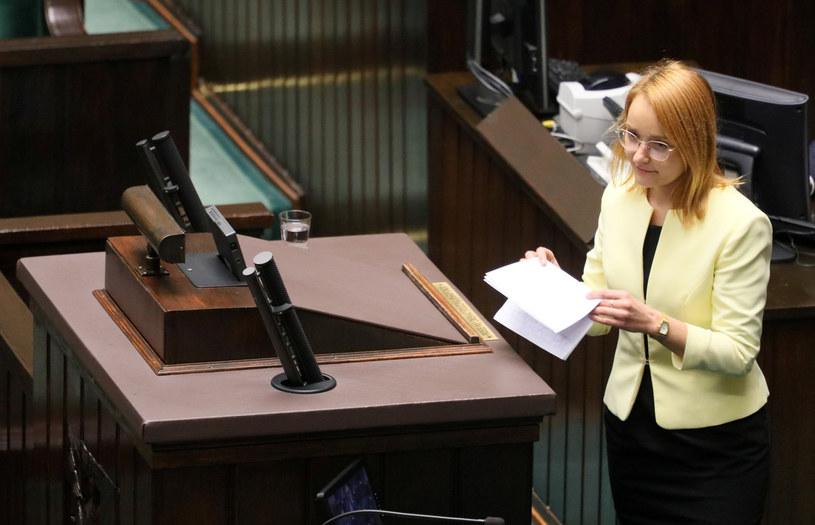 Na zdj. Małgorzata Tracz z Partii Zieloni /Jakub Kaminski/East News /East News