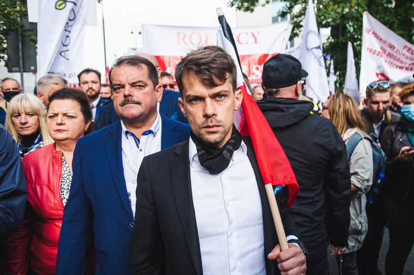 Na zdj. Michał Kołodziejczak, Sławomir Izdebski i Renata Beger /Fot. Karol Makurat/REPORTER /Reporter