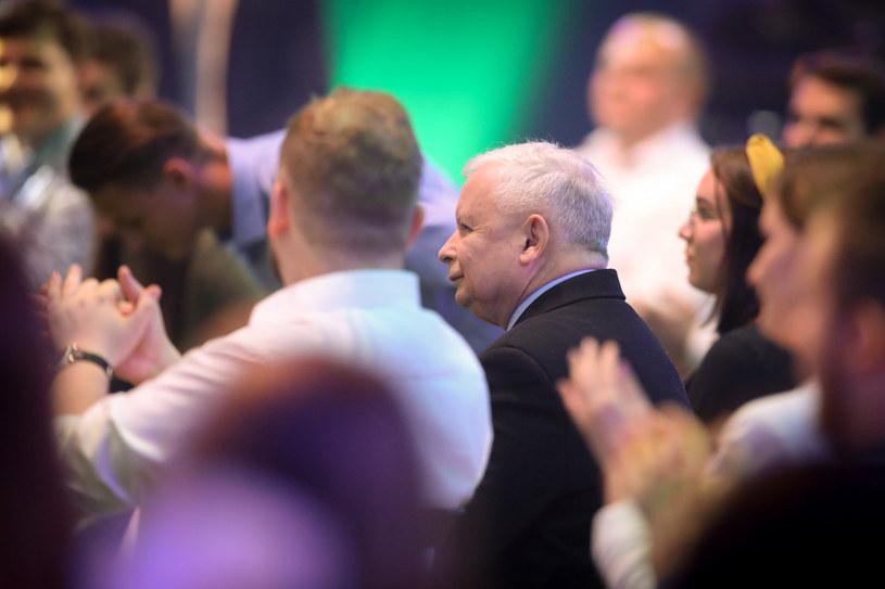 Na zdj. Michał Moskal i prezes PiS Jarosław Kaczyński /fot. Andrzej Iwanczuk /Reporter