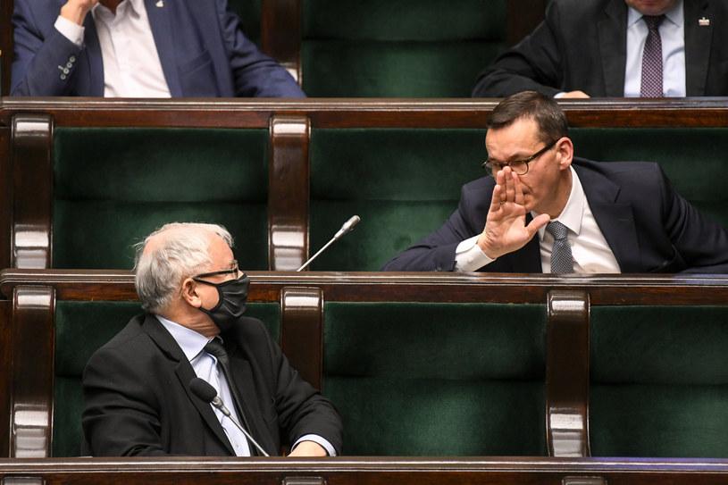 Na zdj. premier Mateusz Morawiecki i Jarosław Kaczyński /Jacek Domiński/ Reporter /Reporter