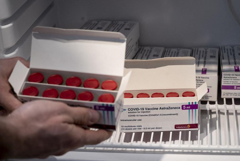 Na zdj. szczepionki firmy AstraZeneca w Danii /LISELOTTE SABROE / RITZAU SCANPIX / AFP /AFP