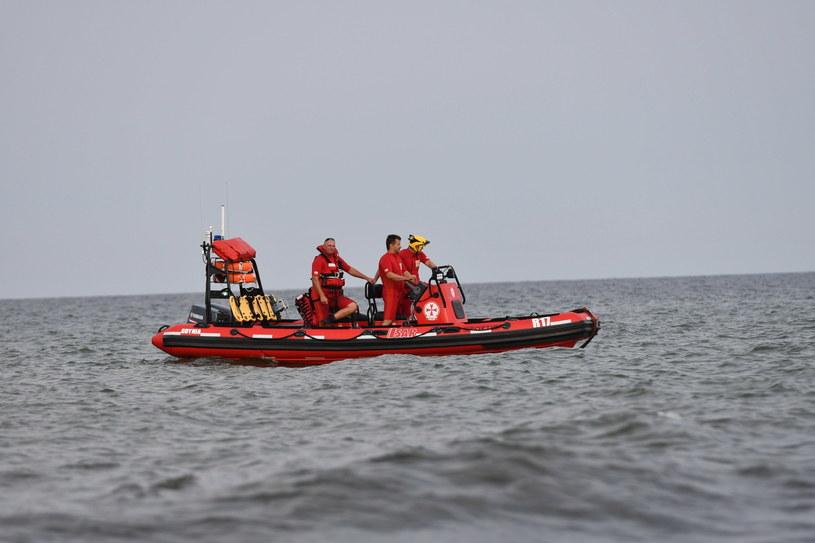 Na zdjęciu: Akcja poszukiwacza dzieci, które zaginęły na plaży w Darłówku Zachodnim / Marcin Bielecki    /PAP